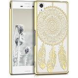 kwmobile Elegante e leggera custodia Crystal Case Design acchiappasogni per Sony Xperia M4 Aqua in oro trasparente
