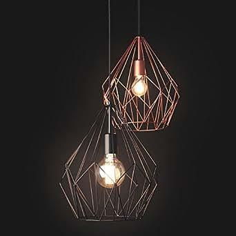 Licht-Trend Bosco, Retro-Hängelampe, Durchmesser 31 cm, schwarz 11507