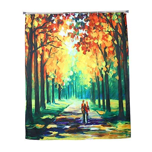 BigFamily Bad-Vorhang-Duschvorhang druckte 150 x 180CM Polyester umweltfreundlich waschbar
