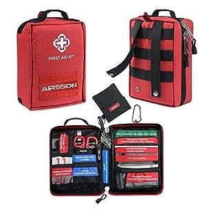 Airsson Erste Hilfe Ausrüstung Set - Erste Hilfe Tasche Mit Inhalt Molle Gürtel Für Reise Wandern Zuhause Auto Wanderer Outdoor Wasserdicht Tasche Leer Groß Und Klein