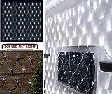 elitezotec Lichterketten-Netz mit 105 LED, dekoratives Solarlicht, 1,8 m x 1 m, für draußen, Sommer
