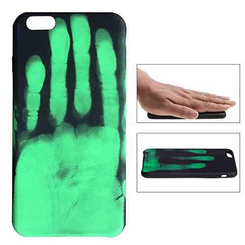 Thermal Heat Induction Funda iPhone 6 6s, Mágico Moda Cambio de Color Sensor Térmico Fluorescente Calor Térmico Inducción Heat Sensible Matte Case Cover para iPhone 6 6s
