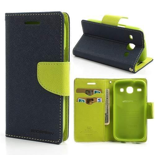 Mercury Goospery Fancy Diary Wallet Flip Case Cover for Samsung Galaxy J5 - Blue/Green