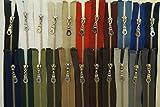 FIM SONDERLÄNGEN 61cm - 89cm Reißverschluss Metall Nr. 5 mittelgrob Silber Nickel Teilbar für Jacken, 1 - schwarz (322), 61cm