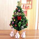 ZHUDJ Le Decorazioni Di Natale 60Cm Albero Di Natale Pacchetto Office Desktop Decorazioni Da Tavolo Con Un Piccolo Dono Ad Albero