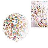 """Deggodech 36"""" Confeti Globos Transparentes Grandes, 4 Pcs Confetti Globos de látex balloons con Bomba de globo para Navidad Cumpleaños Stage Mall Boda Baby Shower Celebración de la fiesta Decoraciones (36 pulgadas)"""