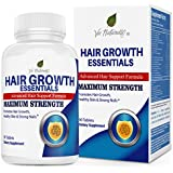 Hair Growth Essentials: #1 Rated Hair Loss Supplement for Women and Men - Advanced Hair Regrowth Treatment With 29 Powerful Hair Growth Vitamins & Nutrients for Rapid Growth - 30 Day Supply