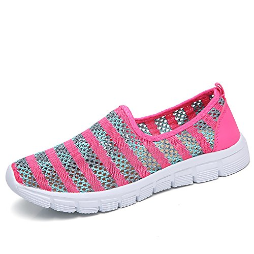 Zapatos para Corror Mujer Zapatillas de Deportiva Slip on Huecos Sneakers para Caminar Walking Calzado...