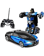 Supreme Deals® Latest Power Look Remote Operated Remote Converting Car to Robot, Robot to Car Toy, with Light and Sound for Kids (Multi_Color)
