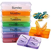 Soulitem 1415/5000 7 Tage Pille Fall Tablet Sorter Medizin Wöchentliche Aufbewahrungsbox Container Veranstalter preisvergleich bei billige-tabletten.eu