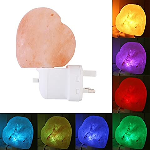 Himalayan Salt Lights, Small Wall Lamps and Color Bulbs for Steam Room, Family, Hotel (Heart)