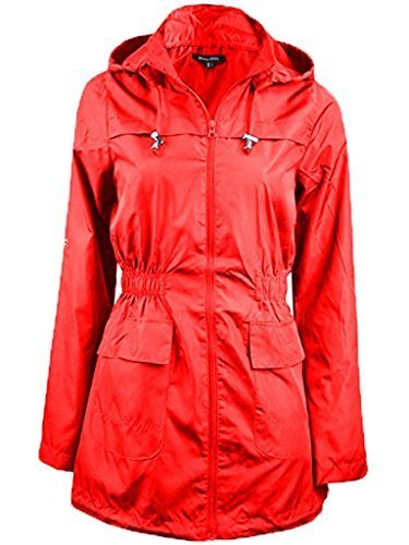 Brave Soul Ladies Womens Girls Plain MAC Cagoule Festival Raincoat with Fishtail (Sizes 8-24)