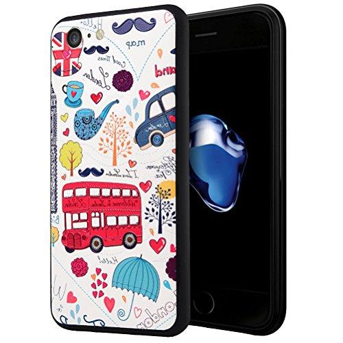 "MOONCASE iPhone 7 Hülle, [Dummy Doll] Kreativ Bunt Muster Design Gel TPU Schutzhülle für iPhone 7 4.7"" Handyhülle Silikon kratzfeste stoßdämpfende Case Pattern"