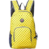 Hopsooken Travel Backpack For Schools - 25L Waterproof Dot Ultra Lightweight Daypack Bag for Women and Men, School Backpack for Girls, Boys, College Student (Yellow)