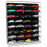 Widdowsons Display Cases Wall Display Case for 1:43 Model Cars with 8 Shelves, Acrylic, 47 x 13.5 x 55.5 cm