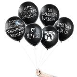 Pechkeks Anti-Party-Ballons, schwarze Luftballons mit schrägen Sprüchen, Silvester Edition-Set, schwarz