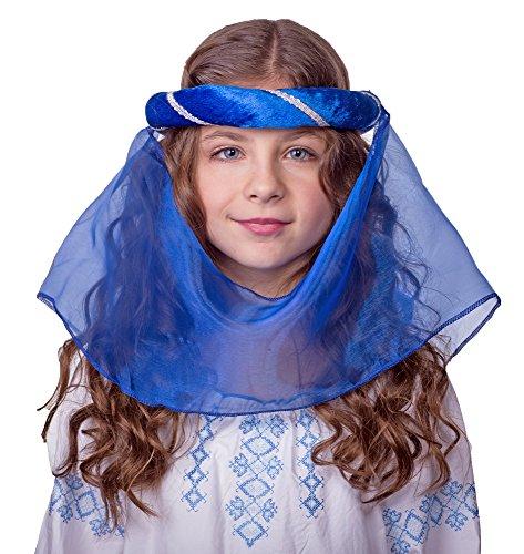 Mittelalter Haarband Helena für Mädchen Blau Silber