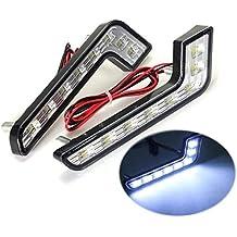 KaTur - Faros diurnos, 2 unidades, 8ledes, luz blanca, luz antiniebla delantera, 12V
