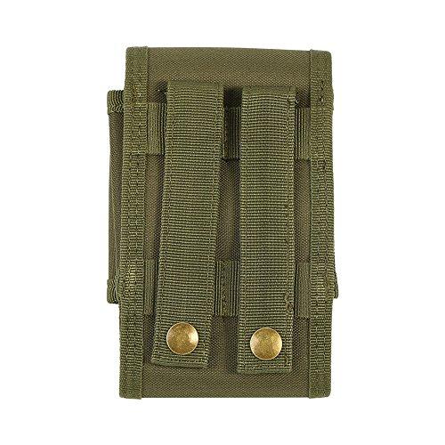 Single Magazintasche Holster Multifunktions-Nylon Handy Tasche für 5,5 Zoll Handy Armeegrün