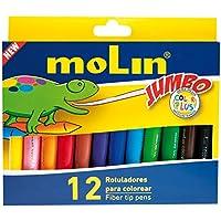 Molin RCP200-12B - Pack de 12 rotuladores de colorear