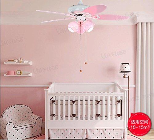 FJ-Lámpara colgante de nuevos niños dormitorio hermoso ventilador creativa 3