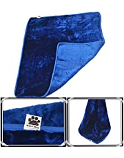 Comfy German Mink Fabric Soft and Beautiful Blue Dog/Cat Blanket (Large, 38X42-inch)