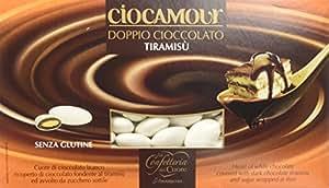 Amarischia Confetto con Doppio Cioccolato al Latte, Aromatizzato al Tiramisù e Ricoperti di Zucchero - 1000 g