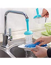 Weltime Flexible Faucet Nozzle Water Filter Adapter Water Purifier Saving Tap Aerator Diffuser Kitchen Connector Accessories Water Saving Faucet, Water Saving Nozzle for Kitchen (Multicolor)