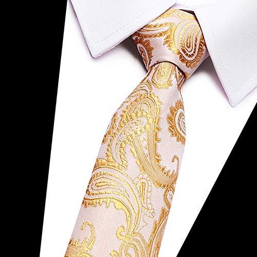 reifte 7,5 cm Krawatte Rot Gold Grau Grün Krawatten Für Männer Jacquard Gewebte Seide Krawatte Anzug Für Formale Bürogruppe Schlanke Krawatte ()