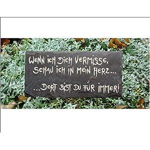 Eine Kostbarkeit auch zur kalten Jahreszeit/Anfertigung nach ihren Wünschen/frei Hand gemalt und gebrannt/Grabschmuck/Schiefer/Stern/Herz/Grabgesteck/Grabstein