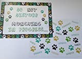 2 X Pet Dog Cat feeding Placemats Mats 2 Different Designs 43 x 32 cm approx