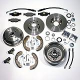 Bremsscheiben Bremsbeläge vorne + Bremstrommeln Bremsbacken Radbremszylinder Radlager Zubehör hinten + Bremsschläuche für vorne hinten
