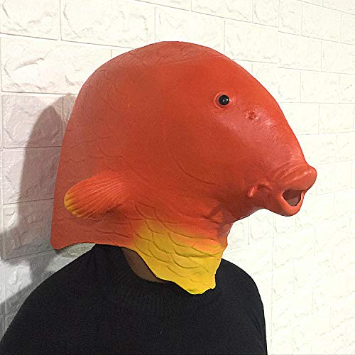 TGCYMYY Darstellende Requisiten Cartoon Fisch Maske Tierkopf Set süße Latex Maskerade Dance Bar Performance (Masken Maskerade Süße)