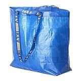 Ikea FRAKTA-Sac de Transport Bleu-Idéal pour Une Utilisation en extérieur et de Rangement, Taille M