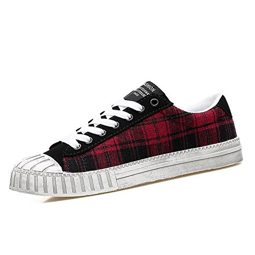 Chaussure shearling femme homme adulte mixte basket mode amoureux sportif sneakers Rouge
