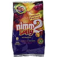 nimm2 Lolly – Fruchtige Lutscher in vier unterschiedlichen Geschmackskombinationen zum Naschen für die ganze Familie – 5 x 200g Beutel