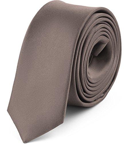 Ladeheid Herren Schmale Krawatte SP-5 (150cm x 5cm, Metallisch braun)