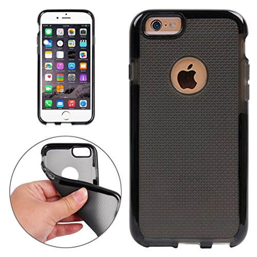 Wkae Case Cover Für iPhone 6 &6s Knitbeschaffenheit TPU-Schutzhülle ( Color : White ) Black