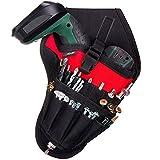 NoCry Werkzeughalter für Akkuschrauber   Werkzeuggürtel mit Platz für Zubehör und offenen Schlaufen für die Aufbewahrung von Werkzeugen und Bohrern   Schneller Zugriff   Befestigung am Gürtel