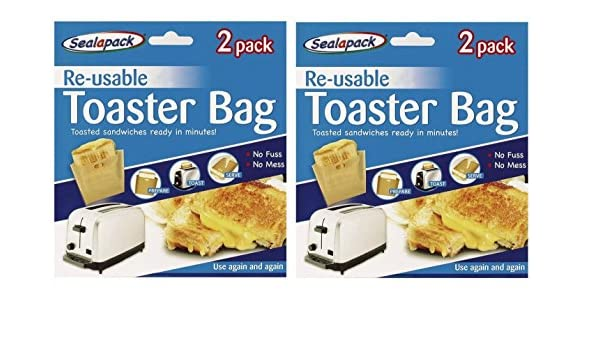 NEW Reusable Toast Bags Toasty Toaster Toastie Sandwich Buy single or set of 2