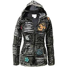 Shopoholic Moda Mujeres 100% algodón suave Emo Punky Gótico Chaqueta Con Capucha Para Mujer