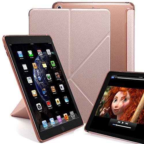 KHOMO Schutzhülle für iPads mit 24,63 cm Bildschirmgröße (9,7 Zoll), Version 2017 und 2018 Rose Gold iPad 9.7 Inch (2017 & 2018)