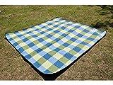 Unbekannt Unbekannt Schön Wasserdichte Anti-Sanddecke Picknick-Decke für Festival Travel (Blau + Weiß) (Farbe : Blue+White)