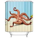 SonMo Duschvorhang Windmühle Bunt Wasserdicht Anti-Schimmel Anti-Bakteriell Bad Vorhang für Badewanne mit Duschvorhangringen Blickdicht Als Trennwand Polyester 3D Digitaldruck 90X180CM