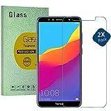 HUUH Huawei Honor 7A verre trempé, protection écran,arcs de 2,5 D,épaisseur:0,26 mm,dureté 9H, 99% HD,Verre trempé écran Protecteur vitre pour Huawei Honor 7A(2 Pack)