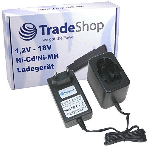 Preisvergleich Produktbild Trade-Shop Universal Akku Ladegerät (1,2V-18V) Ladestation Schnellladegerät für Bosch GSR7.2VPE-2 GUS7.2V PBM7.2 PSR7.2VES-2 13618 13618-2G 15618 1644 1644-24 1644B-24 1644K 1644K-24 1646K 1659K 1659RK 1662