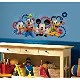 Thedecofactory RMK2561GM Stickers Disney Mickey Mouse Giant Roommates Repositionnables (99X42CM), Vinyle, Multicolore, 104 x 46 x 0.1 cm