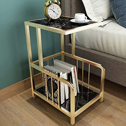 Laptopständer DD Nachttisch, Marmor Edge/Corner EIN Paar   Tisch    Rack/Kleiner Couchtisch  Werkbank (Farbe : Weiß)