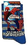 BRANDSSELLER Jungen Socken Strümpfe mit Spiderman Motiv - 2er-Pack - 23/26