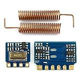Mini RF Sender Empfänger Modul 433 MHz Wireless Drahtlos Link Kit + Spring Antennen für Arduino ( 3,5 mA DC 3–12 V 433 MHz RF Sender + Empfänger Modul + 2 Spring Antennen für Arduino )